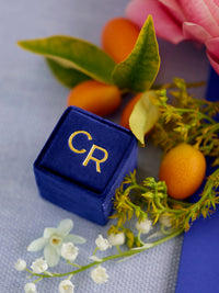 monogram blue vintage box