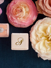 monogram gold custom ring box gift