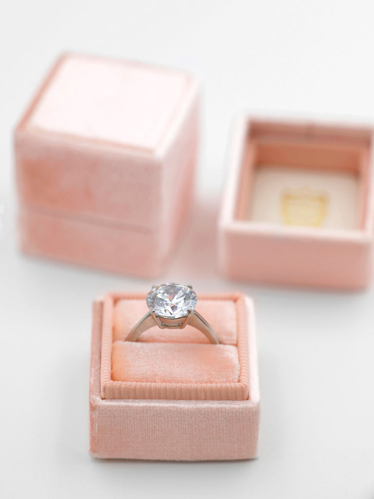 blush pink velvet ring box heirloom engagement and wedding gift