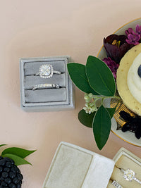 silver velvet wedding ring box gift ideas