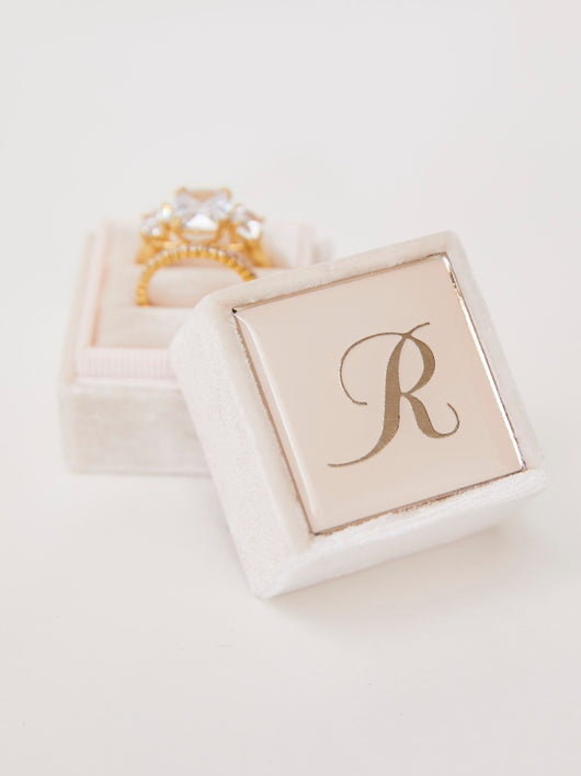 The Antonia Classic Single Enamel Monogram