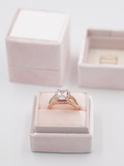blush pink wedding ring vintage box