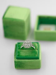 Kelly green velvet ring box