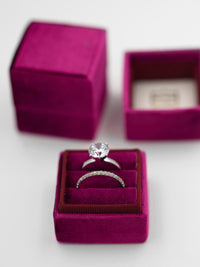 magenta purple double ring box