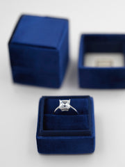royal blue velvet ring box