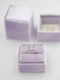 lavender light purple heirloom vintage ring box
