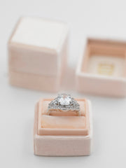 peach nude wedding ring box