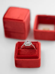 red velvet wedding ring box