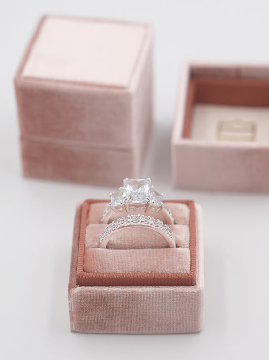 rose gold jewelry engagement ring box