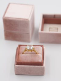 rose gold wedding engagement ring box gift