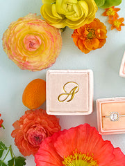 monogram ring box gold spring colors