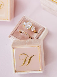 velvet neutral pink heirloom ring box