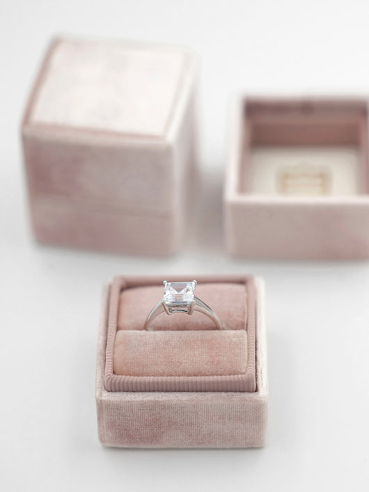 milennial pink blush mauve ring box