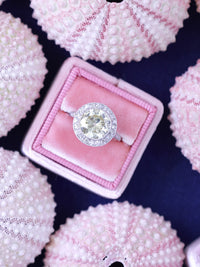 baby pink velvet wedding ring box vintage
