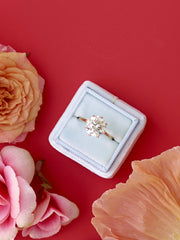 dusty blue velvet wedding ring box engagement gift idea
