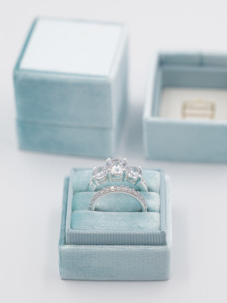sea green blue wedding ring box