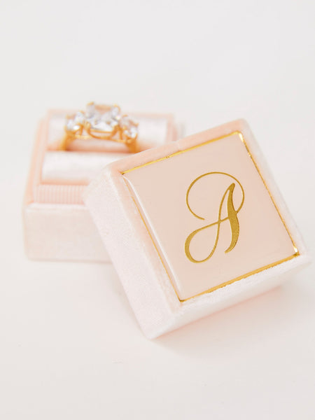 pale pink heirloom ring box