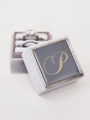 slate grey velvet ring box