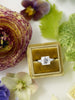 Princess cut engagement ring gold ring box