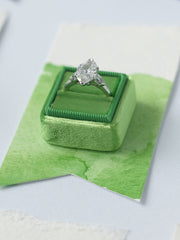 Green velvet engagement ring box