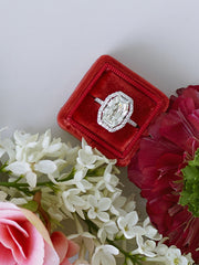 red oval cut ring box velvet