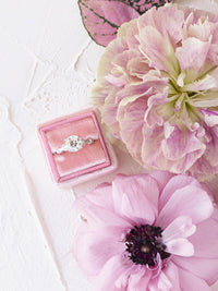 baby pink velvet wedding ring box bridal shower gift idea