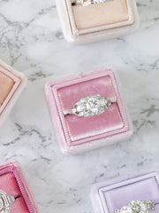 colorful baby pink velvet wedding ring box gift