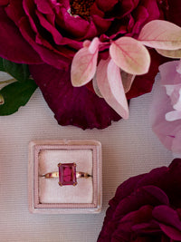 milennial pink blush mauve ring box floral bachelorette gift idea