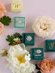 lovely green ring boxes