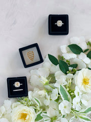engagement ring box for weddings in black