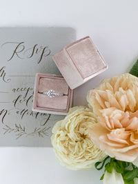 milennial pink blush mauve wedding ring box