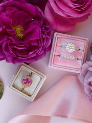baby pink velvet wedding ring box  gift idea