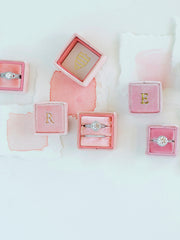 pink blush peach engagement ring box gift idea