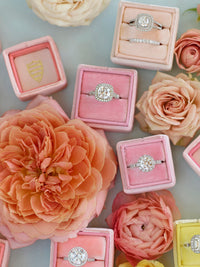 pink baby pink velvet wedding ring box