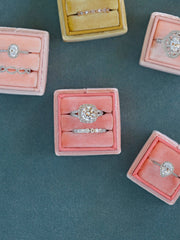 engagement peachy orange velvet wedding ring box