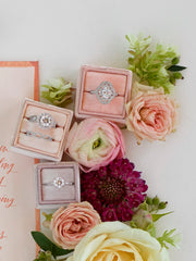 engagement ring boxes colorful velvet