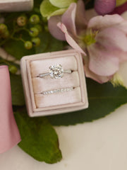 princess cut engagement ring velvet jewelry box