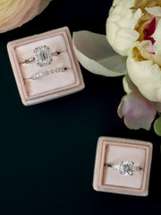 nude wedding velvet ring box