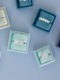 sea green blue wedding ring band box