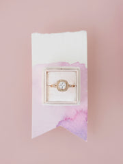 pale blush velvet ring box
