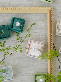 nude emerald wedding ring box