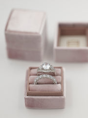 mauve velvet wedding ring box