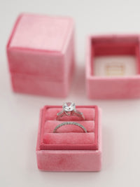 dark pink velvet wedding ring box