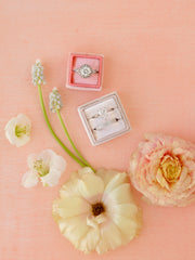 pale pink velvet ring box