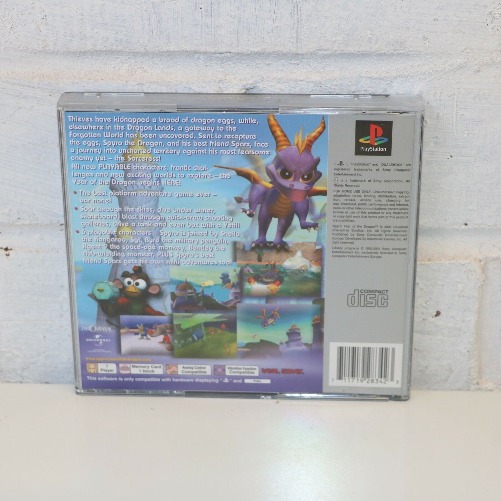 Spyro Year Of The Dragon - Platinum - Sony Playstation PSOne PS1 Game