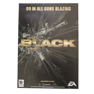 Black - Sony PS2 Microsoft Xbox Game - Rare Promo A2 Original Advertising Poster