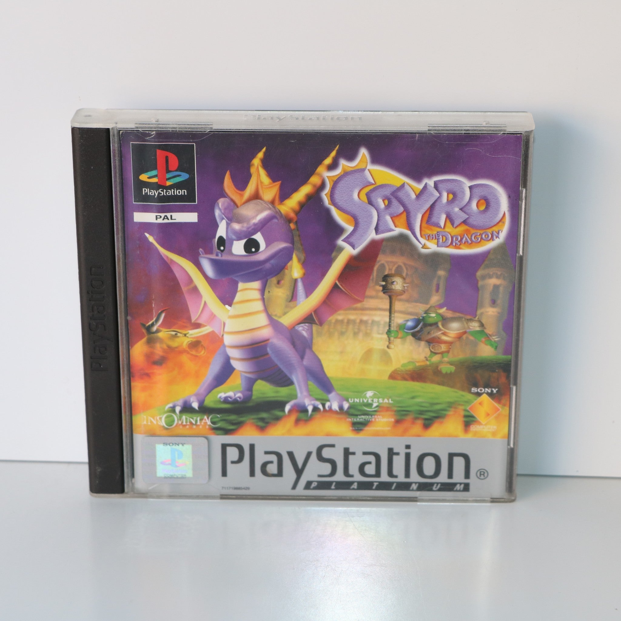 Spyro The Dragon - Platinum - Sony PlayStation PSOne PS1 Game