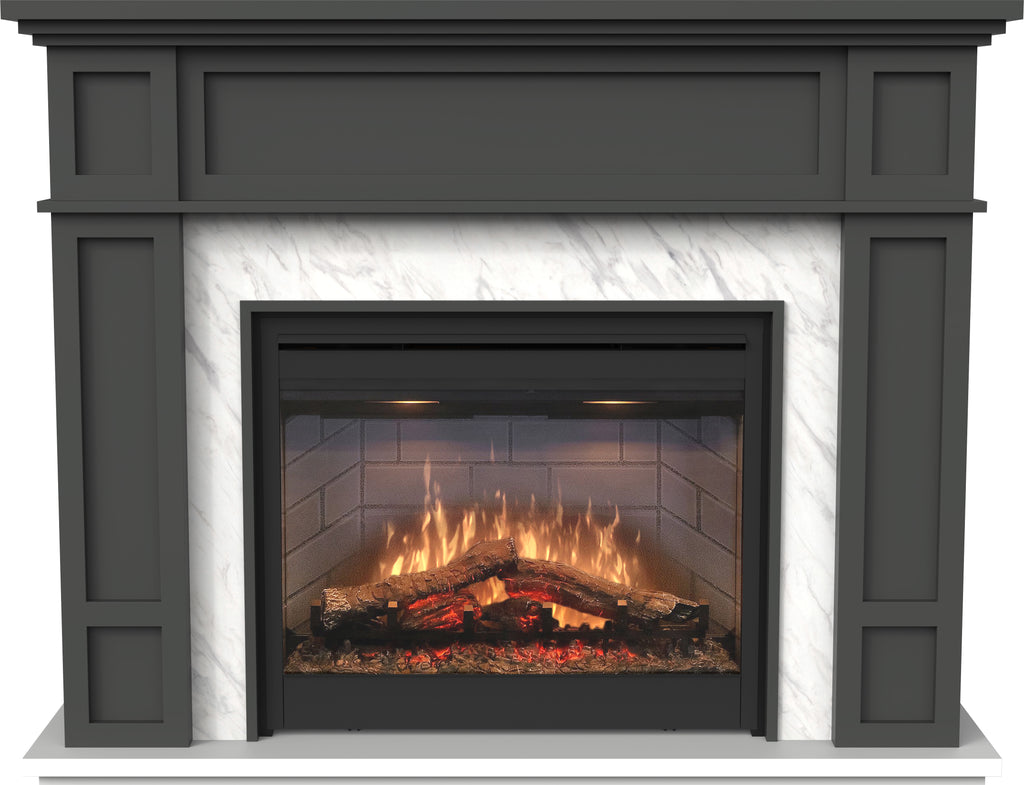 Eltham Mantle with LED Firebox