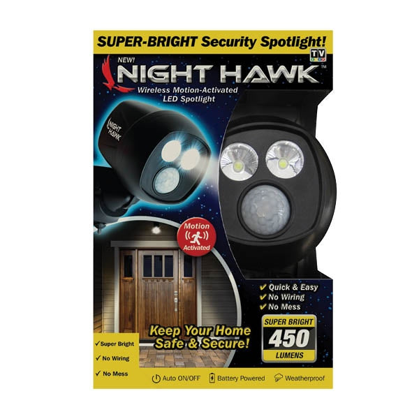 BrandDevelopers NTHK NIGHT HAWK WIRELESS MOTION ACTIVATED LED SPOTLIGHT