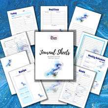 Load image into Gallery viewer, Journal Note Page Inserts - Bluebird Edition